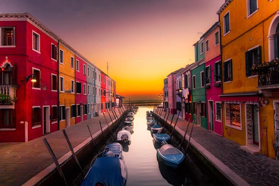 nasocial Burano, Veneza, Itália